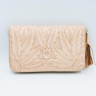 <img class='new_mark_img1' src='//img.shop-pro.jp/img/new/icons14.gif' style='border:none;display:inline;margin:0px;padding:0px;width:auto;' />TBC Select / Boho feather Curve Wallet 2 Colors