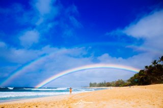 Northshore Rainbow  / Oahu, Hawaii