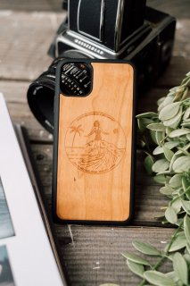 Classic Surf Girl  /  iPhone Hybrid Wood Cover