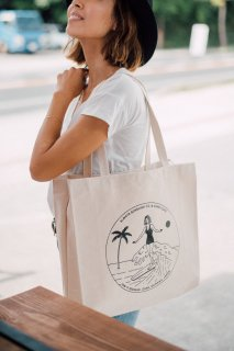Classic Surf Girl Tote Bag