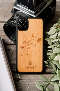 <img class='new_mark_img1' src='https://img.shop-pro.jp/img/new/icons59.gif' style='border:none;display:inline;margin:0px;padding:0px;width:auto;' />【 New 】 Design Island Map Logo Wood iPhone Cover