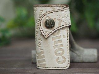 手縫いステッチの本革キーケース 001