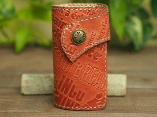 手縫いステッチの本革キーケース 003