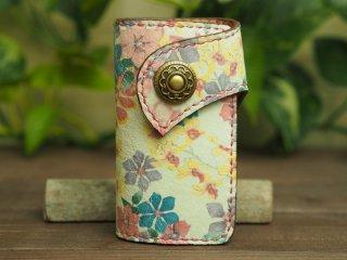 手縫いステッチの本革キーケース 006