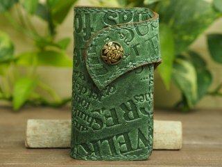 手縫いステッチの本革キーケース 012