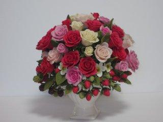 超豪華 華麗なる薔薇&苺 樹脂粘土 オブジェ ゆこりん工房 プレゼントにも