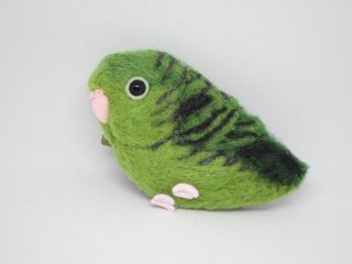 羊毛フェルト 可愛いサザナミインコピンブローチ 鳥 ゆこりん工房