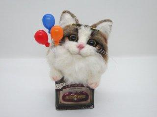 羊毛フェルト 可愛いノルウェイジャン フォレストキャットのオブジェ 猫 ゆこりん工房