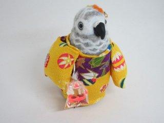 秋祭り 羊毛フェルト 金魚すくいの帰り道 ヨウム ゆこりん工房 鳥