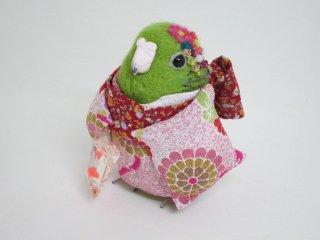 秋祭り 羊毛フェルト 金魚すくいの帰り道 サザナミインコ ゆこりん工房 鳥