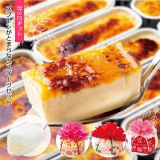 母の日 スプーンがとまらないセット スイーツ 洋菓子 プレゼント アマリアチーズプレーン カタラーナ チーズケーキ シュークリーム