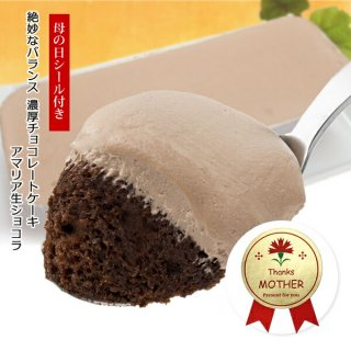 母の日シール付 濃厚チョコレートケーキ アマリア生ショコラ1本