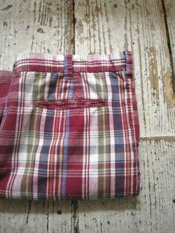 70's Madras Check Short Pants