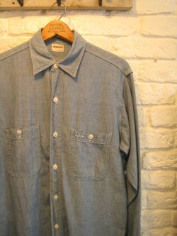 50's BROADCASTER Blue Chambray Shirt