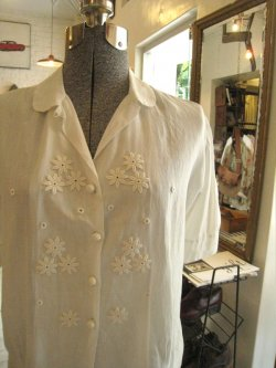40-50's French Cotton Lawn Blouse