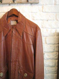 70's natural Comfort Leather Jacket