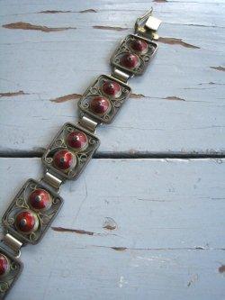 Norway sterling silver and enamel bracelet