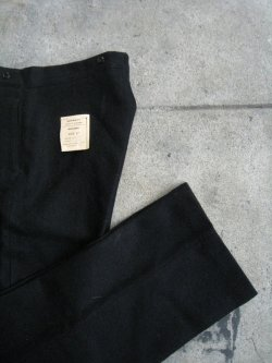 50's Royal Navy Blue Serge Trousers Dead Stock