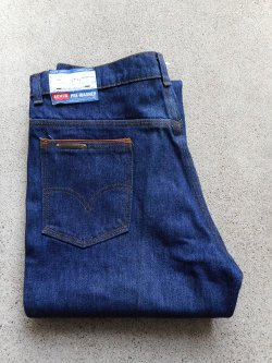 70's Levi's 516 PRE-WASHED Flare Denim Pants Dead Stock