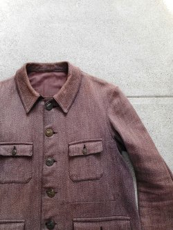 40's French Hunting Jacket w Animal Buttons