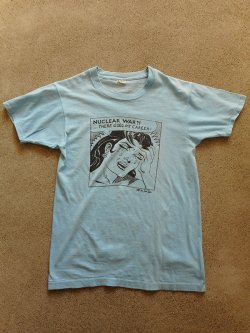 80's Mark Vallen NUCLEAR WAR?! T-shirt