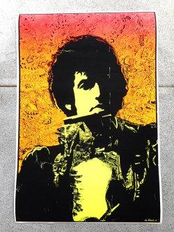 60's Joe Roberts JR. Bob Dylan Black Light Poster