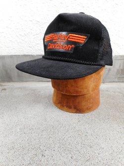 80-90's Harley Davidson Corduroy Cap Dead Stock