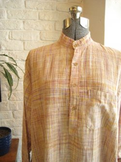 60-70's Indian Cotton Pullover Shirt