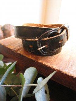 ~1950's Black Leather Belt