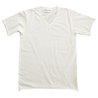 Half Sleeve V T-shirts White