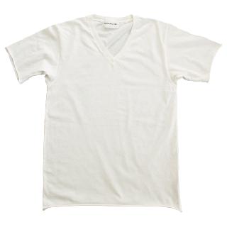 Half Sleeve V T-shirts White