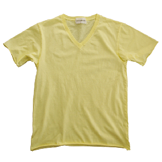 Half Sleeve V T-shirts Yellow