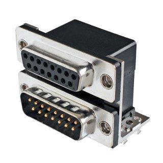 D-subコネクタ デュアルポート(2段) <br> ソケット&プラグタイプ<br>  JCV-15S15P-15-7-E
