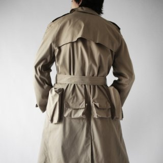 old custom pocket trench coat