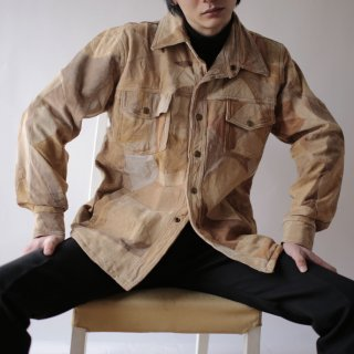 old tsugihagi suede leather jacket