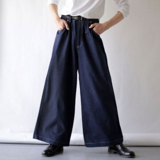 OLD high waist wide denim trousers , dead stock