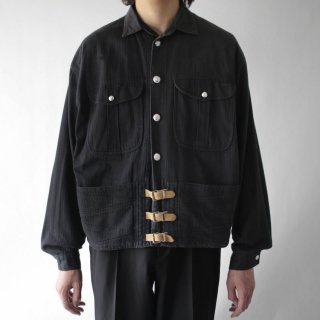 OLD belted trucker jacket