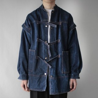 OLD belted denim jacket