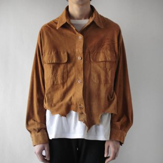 OLD grunge short suede shirt