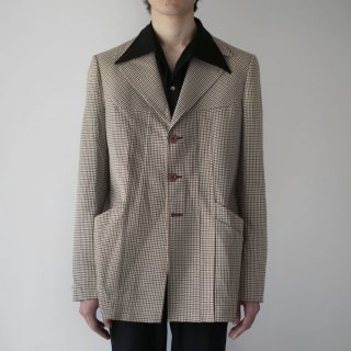 70's check 3b tailored jacket