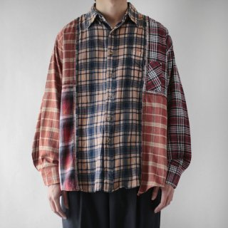 REMAKE crazy pattern flannel shirt