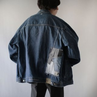 OLD custom patchwork trucker jacket