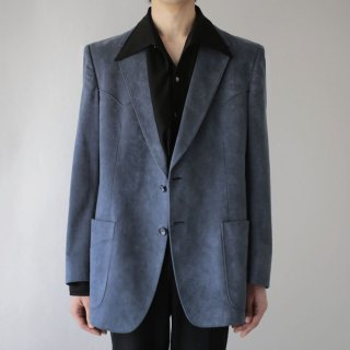 70's faux suede western tailored jacket