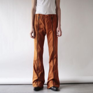 70's center zipped flare trousers