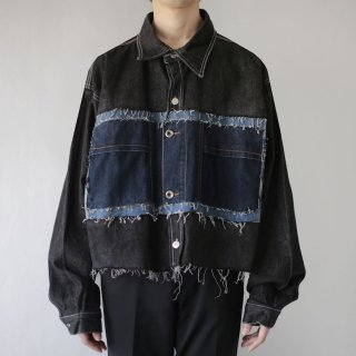 REMAKE custom short trucker jacket