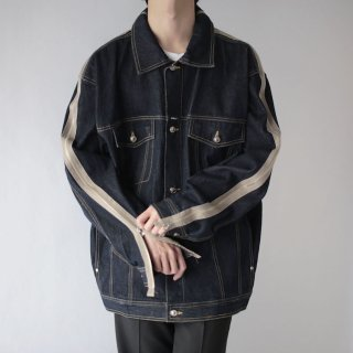 REMAKE custom zipped trucker jacket