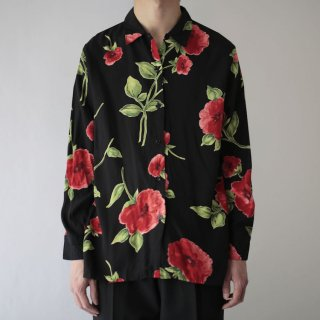 OLD flower rayon shirt