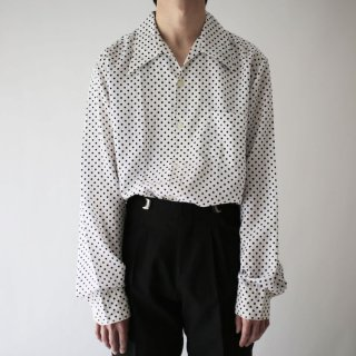 70's dots poly shirt