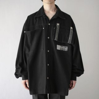 OLD gimmick pocket trucker jacket