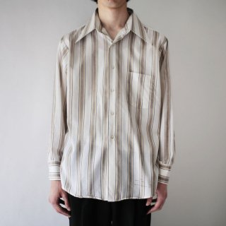 70's stripe poly shirt
